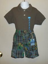 The Childrens Place Infant Boys Adjustable Waist Shorts+ Polo Shirt 18M NWT