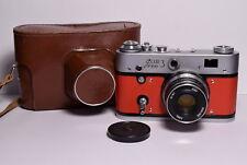 FED 3 Red body Soviet/Russian 35mm Rangefinder Camera, Industar-61 (2.8/53)