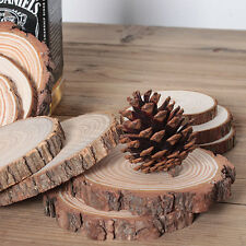 100pcs Unfinished Wood Cutouts Wooden Circles Tree Slices Craft Supplies US