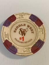 New listing Saddle West $1 Casino Chip Pahrump Nevada 3.99 Shipping
