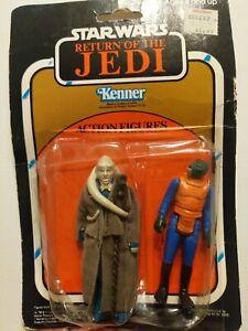 Vintage Star Wars ROTJ Action Figure 2-Pack - bib fortuna & walrus man! RARE!