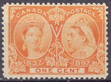 Canada 1c QV Diamond Jubilee, Scott 51, F-VF MNH, catalogue - $63