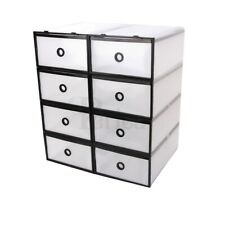 Periea Strong Plastic Boxes Shoe Storage Organiser Drawers Interlocking Tidy