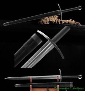 Europe Knight Sword Battle Sword Double Hand Sword Folded Steel Blade Sharp#5499