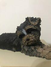 "Rare Large Danbury Mint Yorkshire Terrier Dog Figurine Statue ""Daisy� Resin Cute"