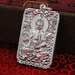 New Classic S999 Silver Pendant Man Woman's Fine Lucky Kwan-yin 30*45*4mm / 33g