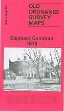OLD ORDNANCE SURVEY MAP CLAPHAM COMMON 1870