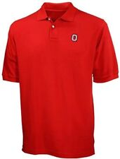 Ohio State Buckeyes NCAA Men's Red Cotton Polo Shirt Big & Tall Sizes
