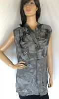 Marni NWT mosstone floral gathered top, tank, viscose blend size M 42 6-8