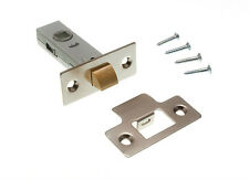 3 PK  TUBULAR MORTICE LATCH CATCH 75MM NP + SCREWS