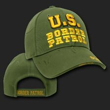 BORDER PATROL POLICE SHADOW OLIVE EMBROIDERED 3D  HAT CAP