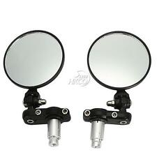 """BLACK MOTORCYCLE 7/8"""" HANDLE BAR END REAR MIRRORS FOR DUCATI MONSTER SPORT BIKES"""