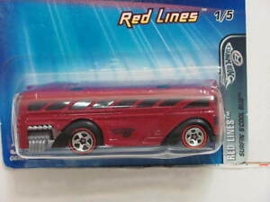 HOT WHEELS 2005 RED LINES SURFIN' S'COOL BUS #096
