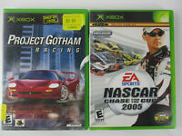 XBOX Console Game Lot PROJECT GOTHAM RACING & NASCAR 2005 CHASE FOR THE CUP!!