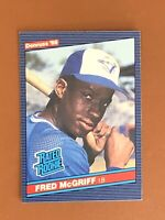 """1986 Donruss Fred McGriff Rated Rookie Card #28 RC MINT - Blue Jays """"Crime Dog"""""""