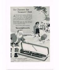 1926 Waterman's Fountain Pen Santa Claus Pirates Treasure Chest art Vtg Print Ad