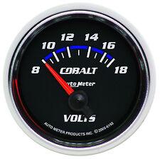 """Auto Meter 6192 Cobalt 2 1/16"""" Electric Voltmeter Gauge 8-18 Volts (52mm)"""