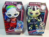 """Monster High Plush Dolls Lot Of 2 Ghoulia Yelps & Frankie Stein New 10"""" Doll"""
