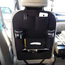 Auto Car Seat Back Multi-Pocket Storage Bag Organizer Holder Accessory Black WA