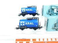 BV56-0,5# 2x Märklin H0/AC 4646 Kesselwagen/Güterwagen ARAL ; OVP