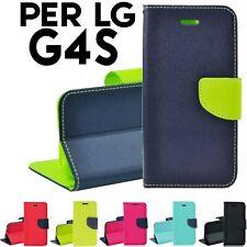 Custodia per LG G4S a Libro Portafoglio con chiusura magnetica porta tessere