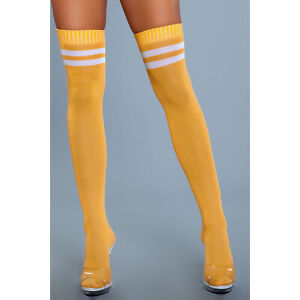 Athletic Striped Top Thigh Highs Sporty Stockings Socks Costume Hosiery 1936