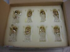 Princess House Fantasia 8pc Crystal Angel Ornaments in Box #5227
