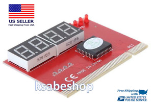 PC Analyzer 4Digit Computer PCI POST Card Motherboard  LED Diagnostic Tester PCB