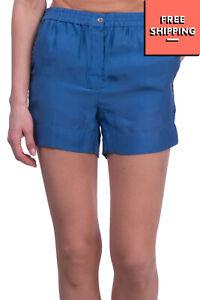 MAURO GRIFONI Silk Taffeta Shorts Size IT 40 / XS Shiny Flat Front Lightweight
