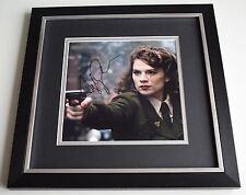 Hayley Atwell SIGNED Framed LARGE Square Photo Autograph display Film TV COA