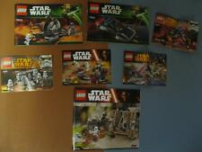 Lego STAR WARS Instructions-Direction Manual ONLY NEW LOT OF 7 Books-750* 751*