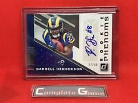 2019 Darrell Henderson Donruss Rookie Phenoms RC RPA #'d 17/99 Rams