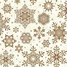 Christmas 20 Paper Lunch Napkins GLOWING STARS COPPER Christmas New Year