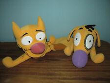 Vintage 1998 Mattel CAT DOG Nickelodeon HAND PUPPET PLUSH Two Heads