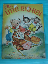 The Little Red Hen by Milo Winter vintage 1937 3418 linen-like Childrens book