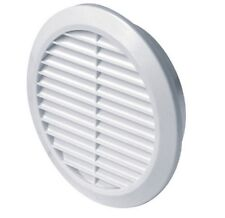 """White Circle Air Vent Grille 125mm 5"""" Round Ducting Ventilation Cover Grid T32"""