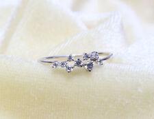 14K solid gold ring~diamond ring~cluster ring~dainty diamond ring~fine~SJR0843