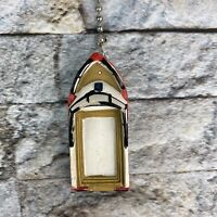 Nautical Boat Red White Blue Decorative Ceiling Fan Light Dimensional Pull