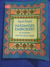 HARDANGER EMBROIDARY COURSE /SINGRID BRIGHT/CRAFTS CUTWORK/BEAUTIFUL LINENS