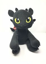 """Build A Bear Toothless How To Train Your Dragon Night Fury Plush 14"""" 2014 Black"""