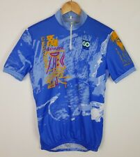 VINTAGE RETRO CYCLE JERSEY T SHIRT TOP BRIGHT BOLD SPORTS ATHLETIC
