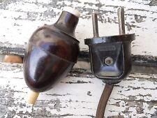 Interrupteur poire et prise en bakélite AMP , art déco, Gras, Muller,  lampe