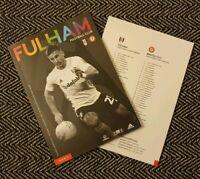 Fulham v Bristol City Matchday Programme 7/12/19!!! LAST 2!!!