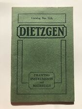 1932 Dietzgen Drawing Instruments and Materials Catalog