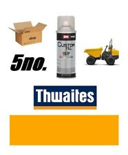 Thwaites Dump Truck BOX OF 5 Yellow Paint Endurance Enamel Paint 400ml Aerosols