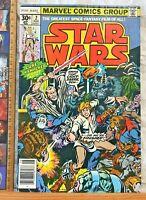 STAN LEE PRESENTS! 1977 VINTAGE STAR WARS #2 1ST SERIES MARVEL COMICS MID GRADE!