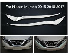 Chrome Front Headlight Lamp Eyelids Moulding Trims for Nissan Murano 2015-2018