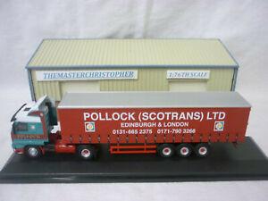 Oxford Diecast/Modern 1:76th Truck Scania 143 Curtainside Pollock 76S143001