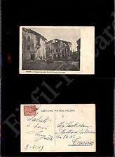 Mori (TN), piazza Grande Cal di ponti allagata - 10.6.1919