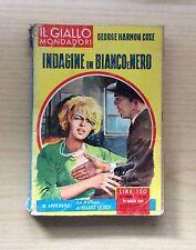 LIBRI - IL GIALLO MONDADORI - N°591 1960 - INDAGINI IN BIANCO E NERO DI G.HARMON